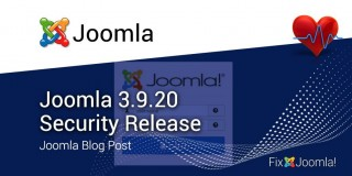 Joomla 3.9.20 Security Release